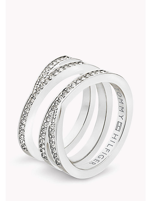 TOMMY HILFIGER Cross Over Ring - STAINLESTAINLESS STEEL STEEL - TOMMY HILFIGER Jewellery - main image