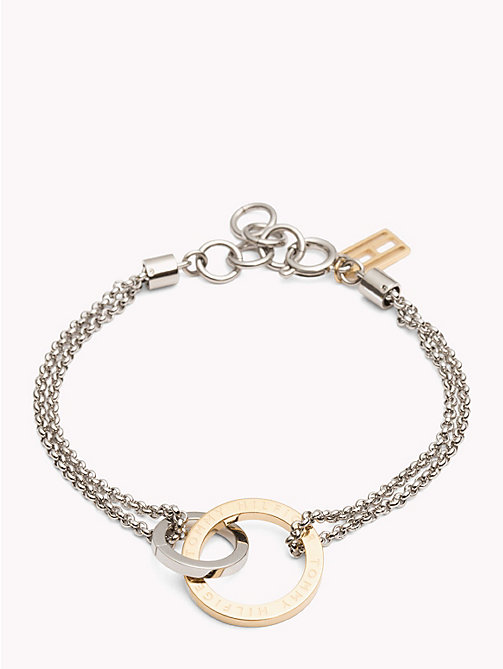 TOMMY HILFIGER Linked Circle Bracelet - YELLOW GOLD - TOMMY HILFIGER Watches & Jewelry - main image