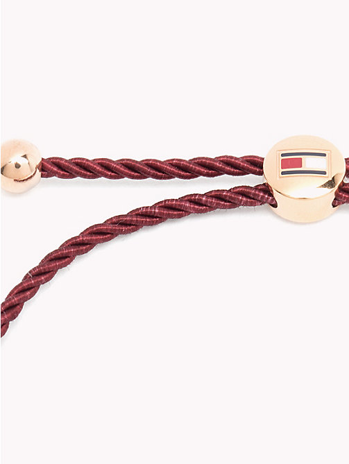 TOMMY HILFIGER Beaded Friendship Bracelet - BURGUNDY - TOMMY HILFIGER Watches & Jewelry - detail image 1