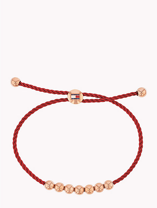 TOMMY HILFIGER Beaded Friendship Bracelet - BURGUNDY - TOMMY HILFIGER Watches & Jewelry - main image