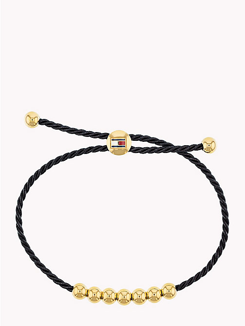 TOMMY HILFIGER Embellished Friendship Bracelet - BLACK - TOMMY HILFIGER Watches & Jewelry - main image