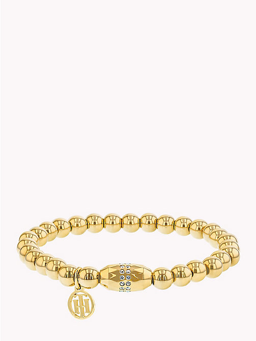 TOMMY HILFIGER Stretchy Beaded Bracelet - YELLOW GOLD - TOMMY HILFIGER Bracelets - main image