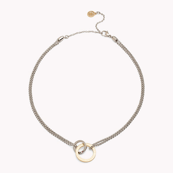 gold linked circle necklace for women tommy hilfiger