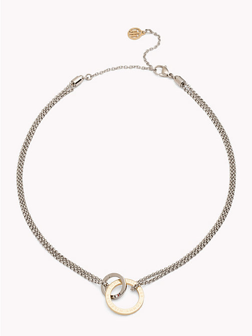 TOMMY HILFIGER Linked Circle Necklace - YELLOW GOLD - TOMMY HILFIGER Necklaces - main image