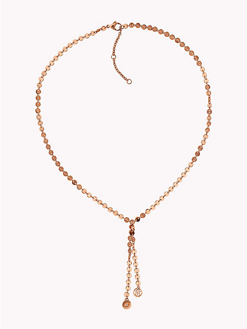 TOMMY HILFIGER Flat Disc Y Necklace - ROSE GOLD - TOMMY HILFIGER Watches & Jewelry - main image