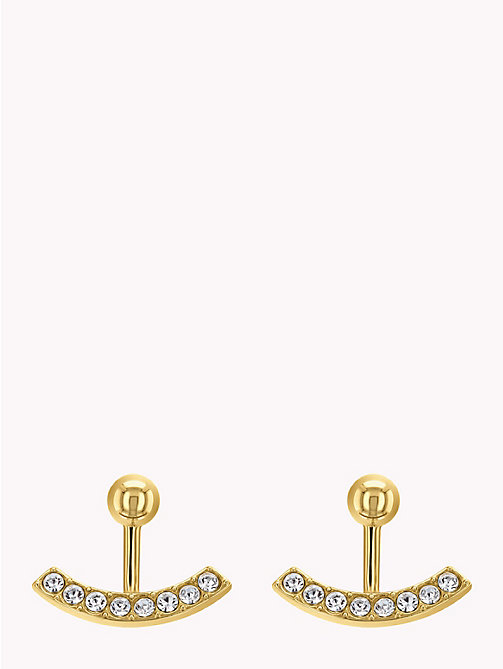TOMMY HILFIGER Embellished Ear Jacket Earrings - YELLOW GOLD - TOMMY HILFIGER Earrings - main image