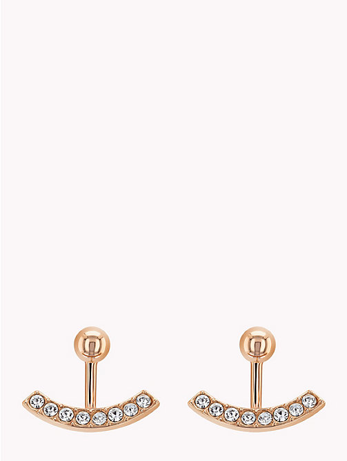 TOMMY HILFIGER Sparkle Ear Jacket Earrings - ROSE GOLD - TOMMY HILFIGER Earrings - main image