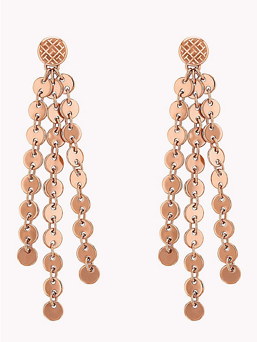 TOMMY HILFIGER Dangling Disc Earrings - ROSEGOLD - TOMMY HILFIGER Party Looks - main image