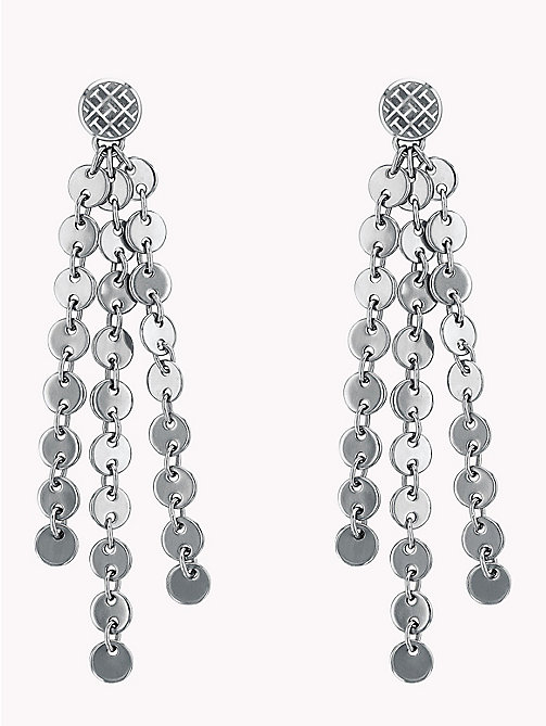 TOMMY HILFIGER Hanging Disc Earrings - STAINLESS STEEL - TOMMY HILFIGER Party Looks - main image