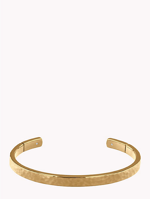 TOMMY HILFIGER Hammered Metal Cuff - GOLD PLATED - TOMMY HILFIGER Watches & Jewelry - main image