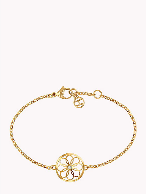 TOMMY HILFIGER Floral Coin Charm Bracelet - GOLD PLATED - TOMMY HILFIGER Watches & Jewelry - main image