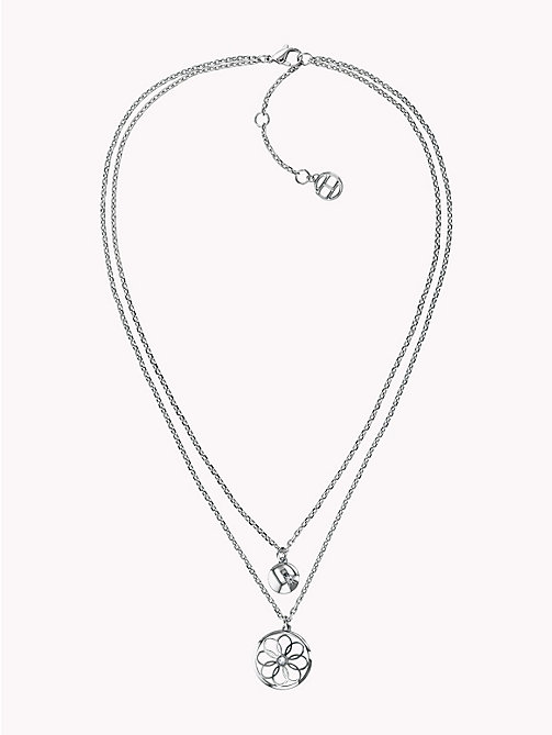 TOMMY HILFIGER Double Layer Charm Necklace - STAINLESS STEEL - TOMMY HILFIGER Necklaces - main image