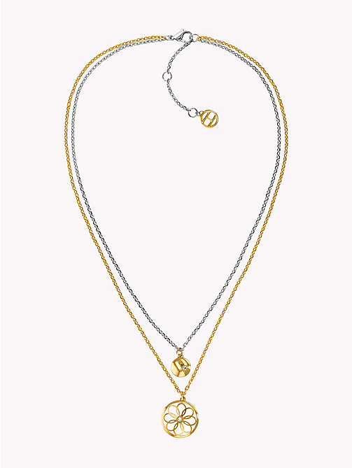 TOMMY HILFIGER Double Layer Charm Necklace - GOLD PLATED - TOMMY HILFIGER Party Looks - main image