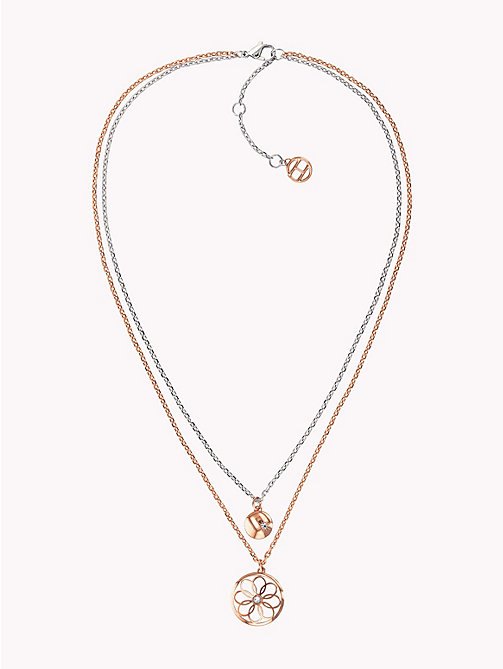 TOMMY HILFIGER Double Layer Charm Necklace - CARNATION GOLD - TOMMY HILFIGER Watches & Jewelry - main image