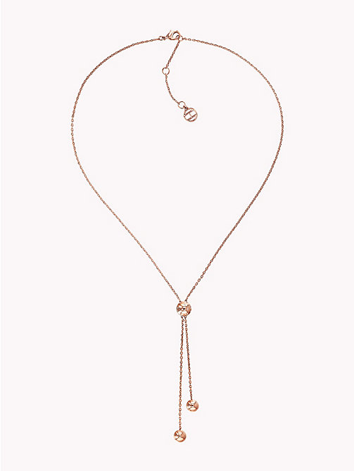 TOMMY HILFIGER Y-Neck Beaded Necklace - CARNATION GOLD - TOMMY HILFIGER Necklaces - main image