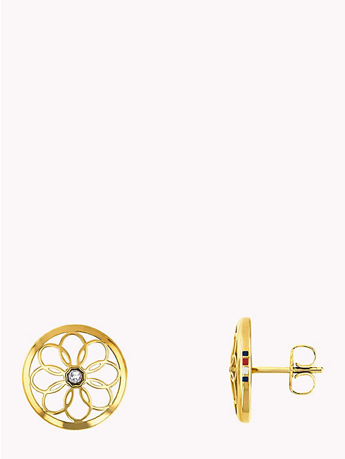 TOMMY HILFIGER Gold Toned Flower Stud Earrings - GOLD PLATED - TOMMY HILFIGER Earrings - main image