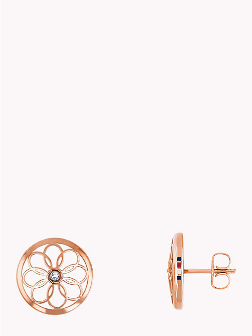 TOMMY HILFIGER Rose Toned Flower Stud Earrings - CARNATION GOLD - TOMMY HILFIGER Earrings - main image