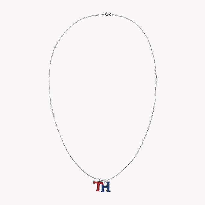grey monogram necklace for women tommy hilfiger