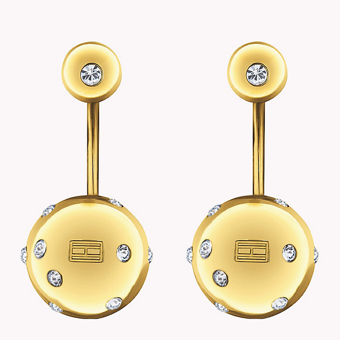 gold drop ball earrings for women tommy hilfiger