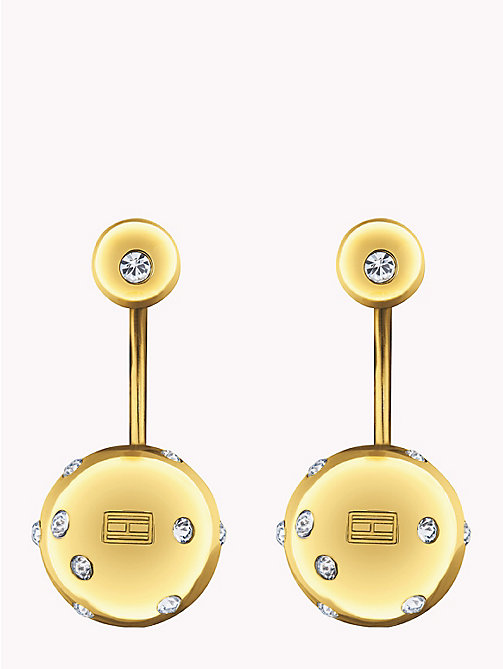 TOMMY HILFIGER Drop Ball Earrings - GOLD PLATED - TOMMY HILFIGER Party Looks - main image