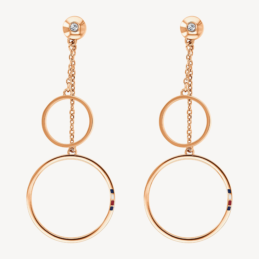 Tommy Hilfiger - Carnation Gold Open Circle Earrings - 1