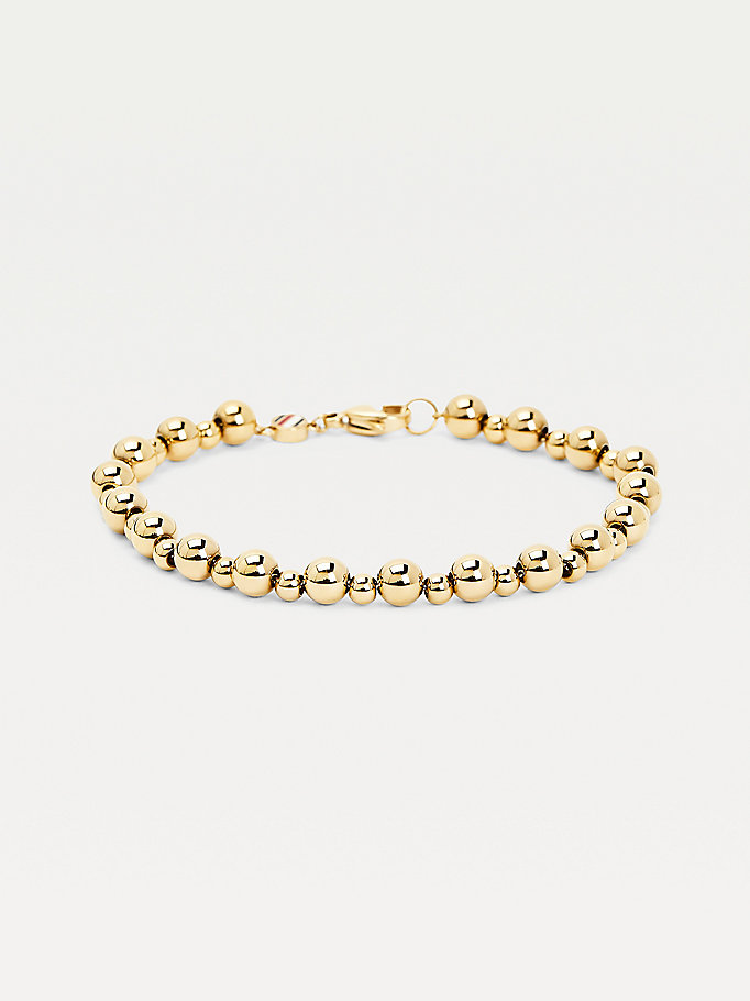 gold gold-plated bead chain bracelet for women tommy hilfiger
