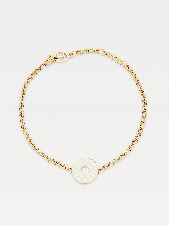 gold gold-plated token bracelet for women tommy hilfiger