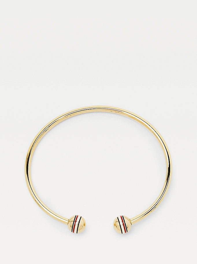 gold orb gold-plated bangle for women tommy hilfiger