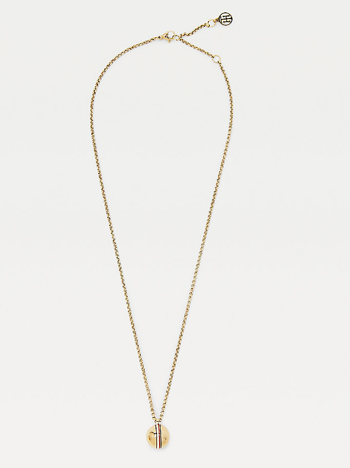 gold orb gold-plated necklace for women tommy hilfiger