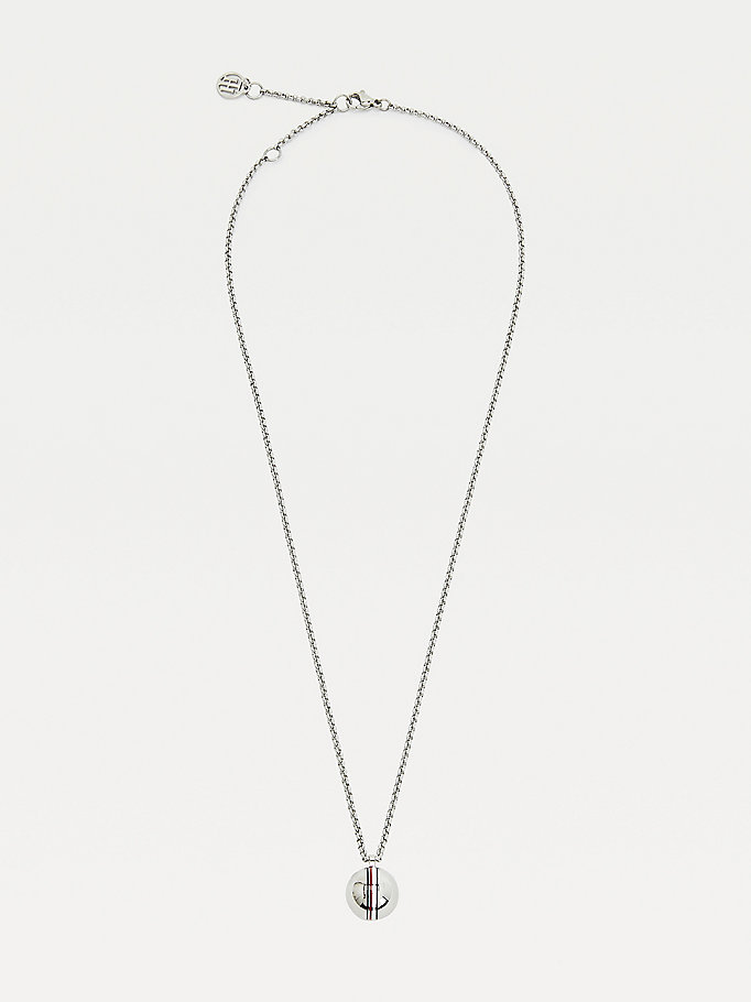 silver orb stainless steel necklace for women tommy hilfiger