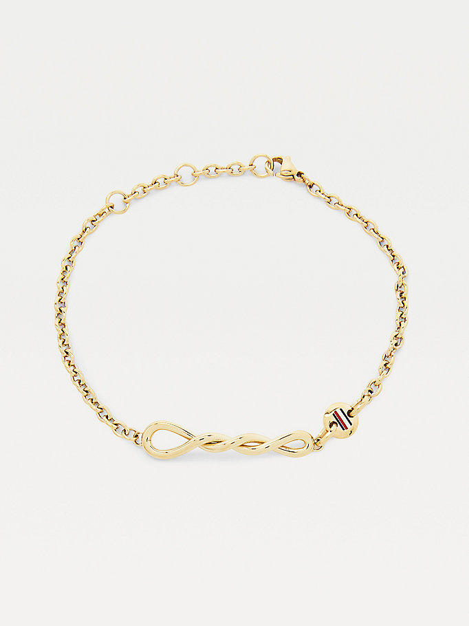 gold twisted gold-plated bracelet for women tommy hilfiger