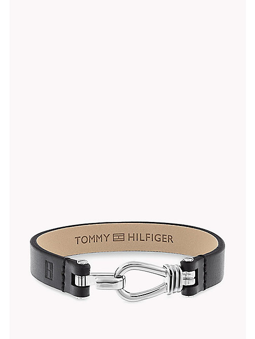 TOMMY HILFIGER Embossed Leather Bracelet - BLACK - TOMMY HILFIGER Father's day - main image