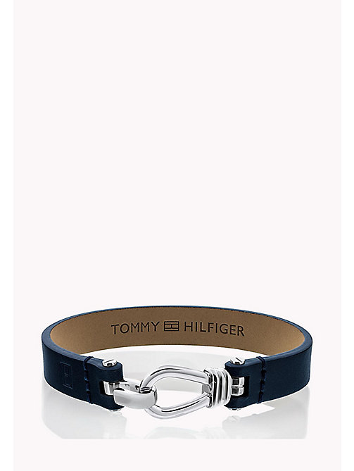TOMMY HILFIGER Pure Leather Bracelet - NAVY - TOMMY HILFIGER Jewellery & Cufflinks - main image
