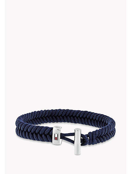 TOMMY HILFIGER Coated Cord Bracelet - NAVY - TOMMY HILFIGER Jewellery & Cufflinks - main image