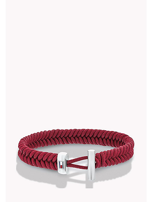 TOMMY HILFIGER Braided Cord Bracelet - RED - TOMMY HILFIGER Jewellery & Cufflinks - main image