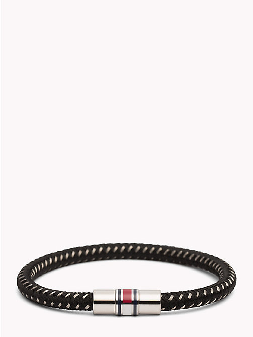 TOMMY HILFIGER Rope and Metal Bracelet - BLACK - TOMMY HILFIGER Jewellery & Cufflinks - main image