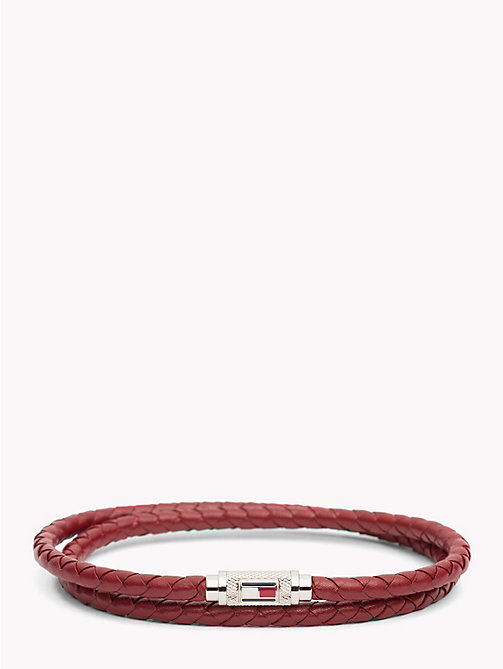 TOMMY HILFIGER Statement Braided Leather Bracelet - RED - TOMMY HILFIGER Watches & Jewelry - main image