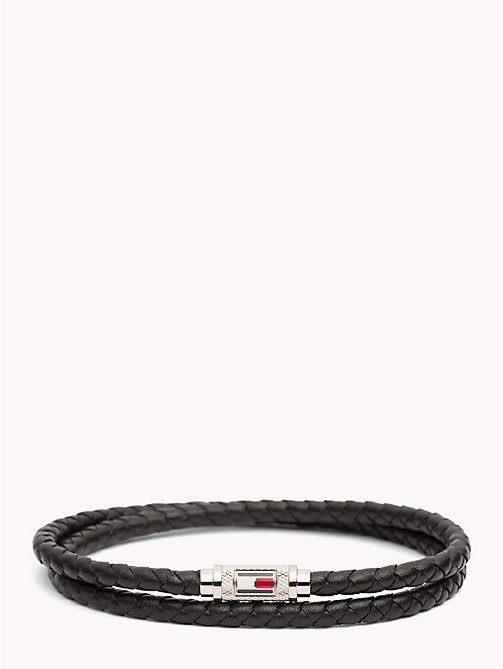 TOMMY HILFIGER Braided Lather Bracelet - BLACK - TOMMY HILFIGER Watches & Jewelry - main image