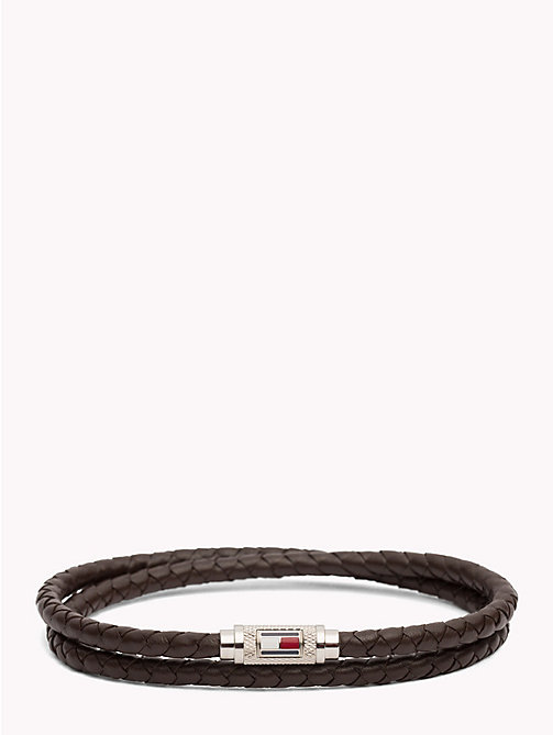 TOMMY HILFIGER Twisted Leather Bracelet - BROWN - TOMMY HILFIGER Jewellery & Cufflinks - main image