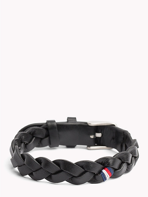 TOMMY HILFIGER Braided Leather Belt Bracelet - BLACK - TOMMY HILFIGER Jewellery & Cufflinks - detail image 1