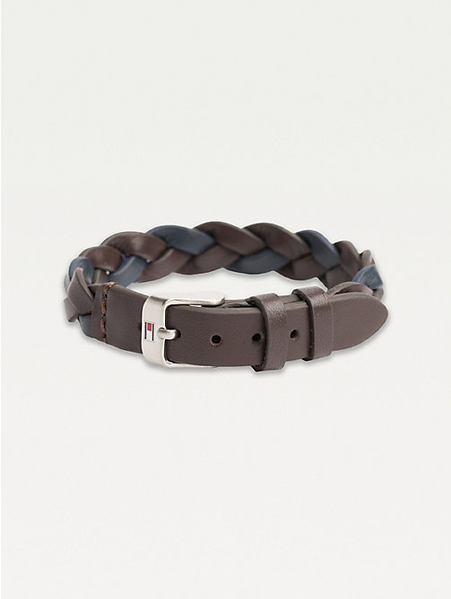 TOMMY HILFIGER Contrast Colour Leather Belt Bracelet - BROWN - TOMMY HILFIGER Jewellery & Cufflinks - main image