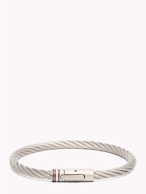 TOMMY HILFIGER Twisted Cable Metal Bracelet - STAINLESS STEEL - TOMMY HILFIGER Jewellery & Cufflinks - main image