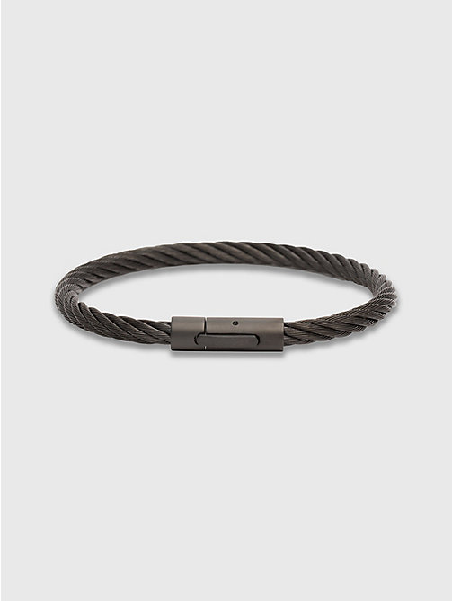 TOMMY HILFIGER Cable Wire Bracelet - BLACK - TOMMY HILFIGER Jewellery & Cufflinks - main image