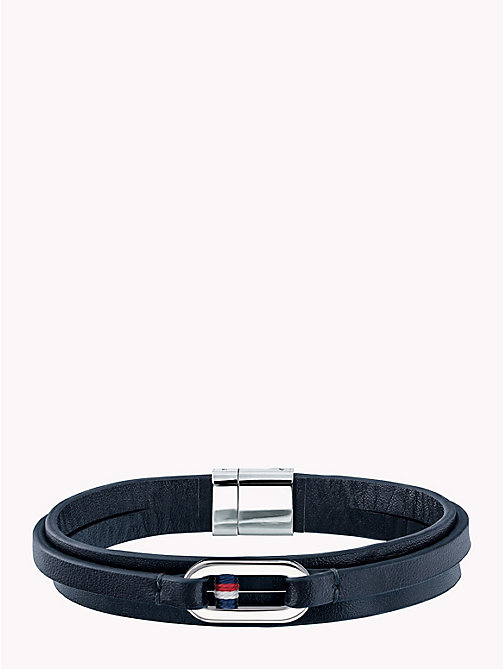 TOMMY HILFIGER Smooth Leather Wrap Bracelet - NAVY - TOMMY HILFIGER Jewellery & Cufflinks - main image