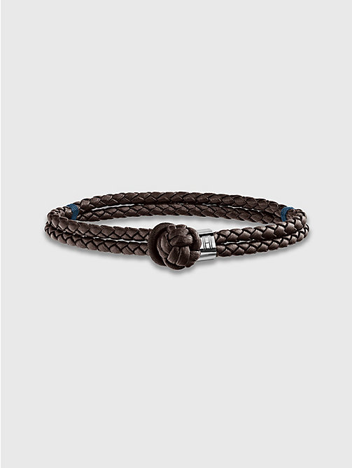 TOMMY HILFIGER Knotted Leather Bracelet - BROWN - TOMMY HILFIGER Biżuteria & Spinki Do Mankietów - main image