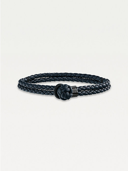 TOMMY HILFIGER Knotted Leather Bracelet - NAVY - TOMMY HILFIGER Watches & Jewelry - main image