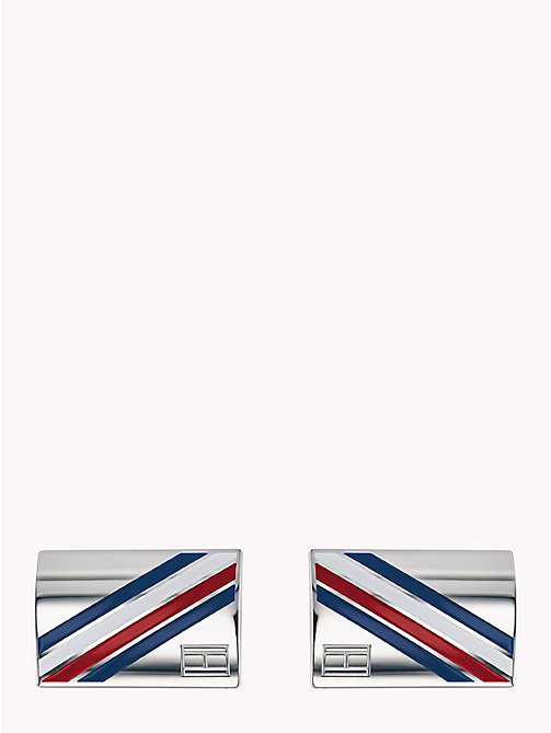 TOMMY HILFIGER Logo Cufflinks - STAINLESS STEEL - TOMMY HILFIGER Watches & Jewelry - main image