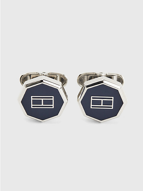 TOMMY HILFIGER Octagonal Shaped Cufflinks - NAVY - TOMMY HILFIGER Watches & Jewelry - main image