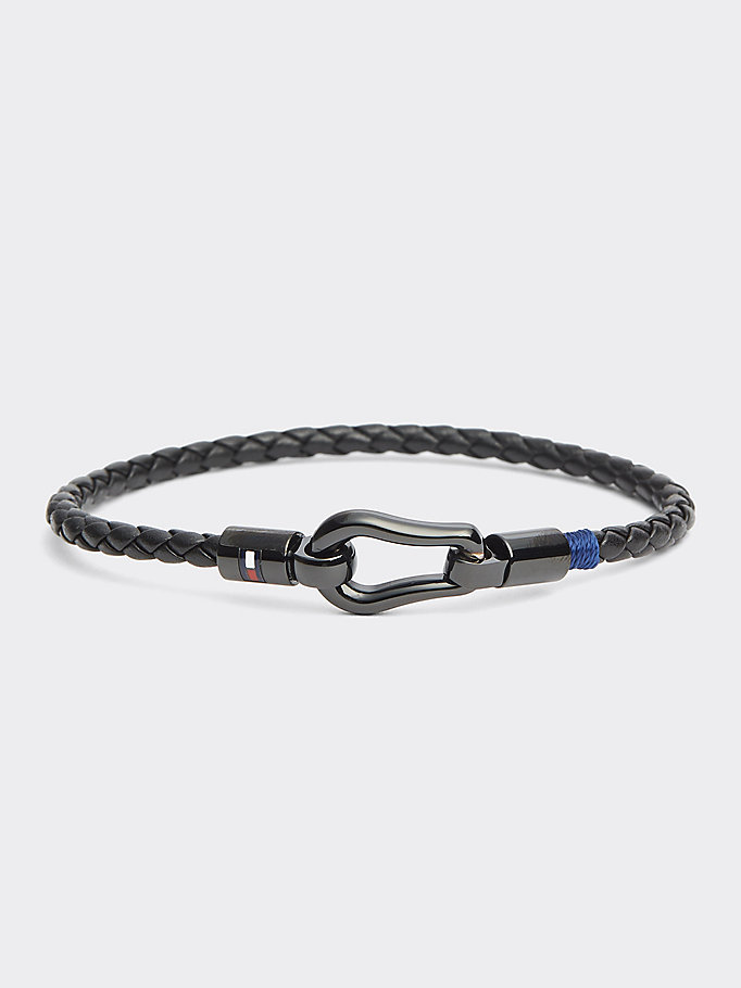 black corded bracelet for men tommy hilfiger