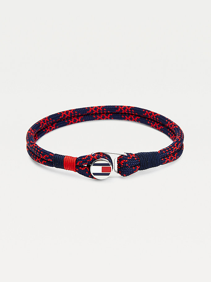 red paracord braided bracelet for men tommy hilfiger